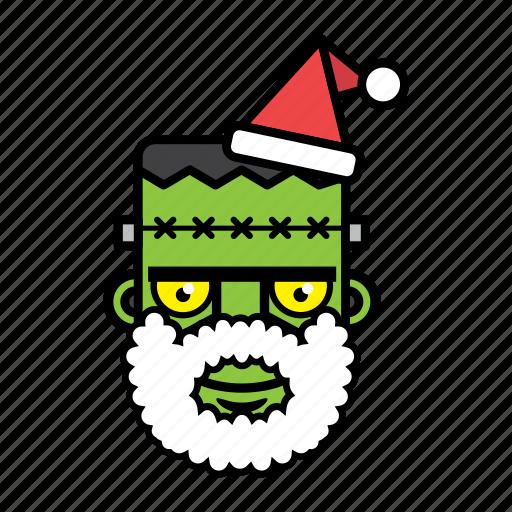 avatar, face, frankenstein, halloween, xmas icon