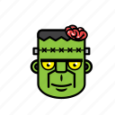 avatar, brain, frankenstein, halloween, zombie icon