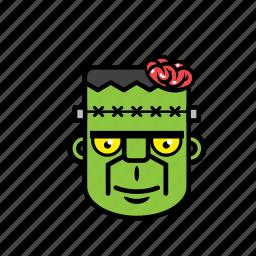 avatar, brain, frankenstein, halloween, zombie icon
