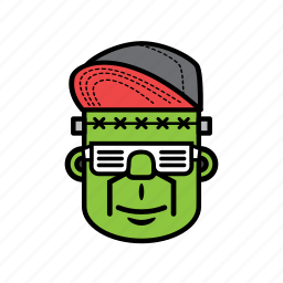 avatar, face, halloween, man, snapback icon