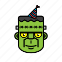 avatar, birthday, face, frankenstein, halloween icon