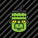 avatar, halloween, birthday, face, frankenstein