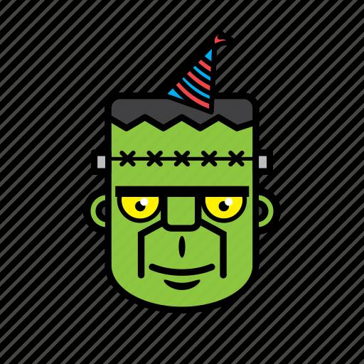 avatar, birthday, face, frankenstein, halloween icon