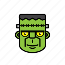 avatar, halloween, face, frankenstein, man