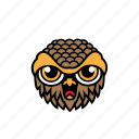 avatar, bird, face, halloween, owl icon