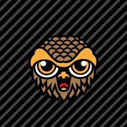 avatar, bird, face, halloween, owl icon