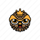 avatar, bird, halloween, king, owl icon