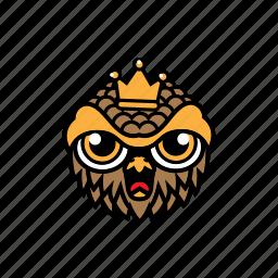 avatar, bird, halloween, king, owl icon