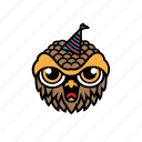 avatar, bird, birthday, halloween, owl icon