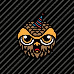 avatar, bird, birthday, halloween, owl icon