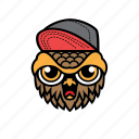 avatar, bird, halloween, owl, snapback icon