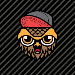 avatar, bird, halloween, owl, snapback icon
