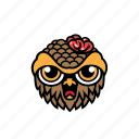 avatar, brain, halloween, owl, zombie icon