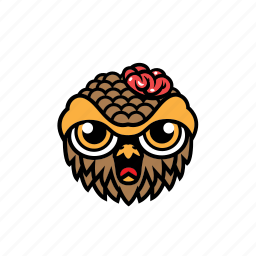 avatar, brain, halloween, owl, zombie icon