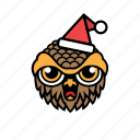 avatar, bird, halloween, owl, xmas icon