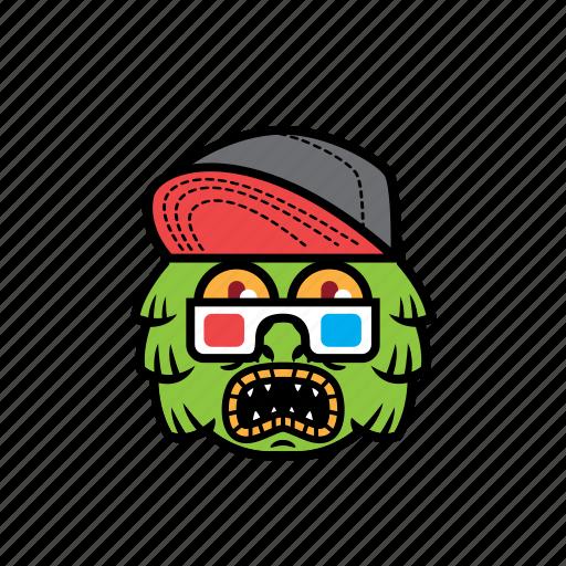 avatar, greenlake, halloween, monster, snapback icon