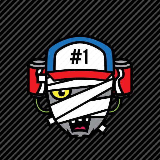avatar, coke, face, halloween, mummy icon