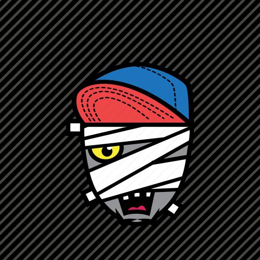 avatar, halloween, mummy, snapback icon