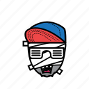 avatar, halloween, man, mummy, snapback icon