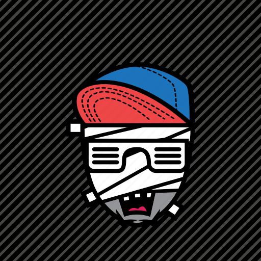 avatar, halloween, man, mummy, snapback icon