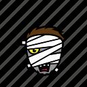 avatar, halloween, face, mummy, scary