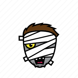 avatar, face, halloween, mummy, scary icon