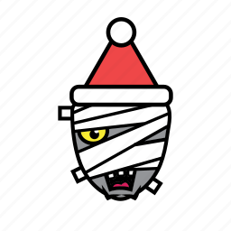 avatar, halloween, holiday, mummy, xmas icon