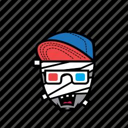 avatar, face, halloween, movie, mummy, snapback icon