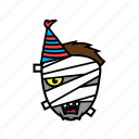avatar, birthday, face, halloween, mummy icon