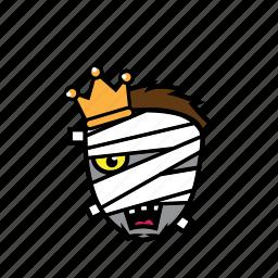 avatar, face, halloween, king, mummy, smile icon
