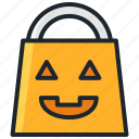 bag, candy, halloween, trick or treat icon