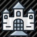 castle, creepy, ghost, halloween, horror, scary icon