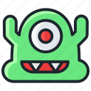 cute, evil, halloween, horror, monster, scary icon