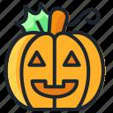 cute, halloween, jack o'lantern, lantern, pumpkin icon