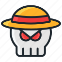 halloween, hat, horror, mafia, pirates, scary, skull icon