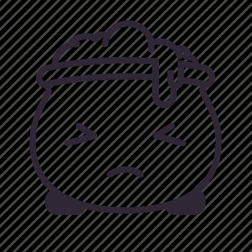 cauldron, halloween, kawaii, sad icon