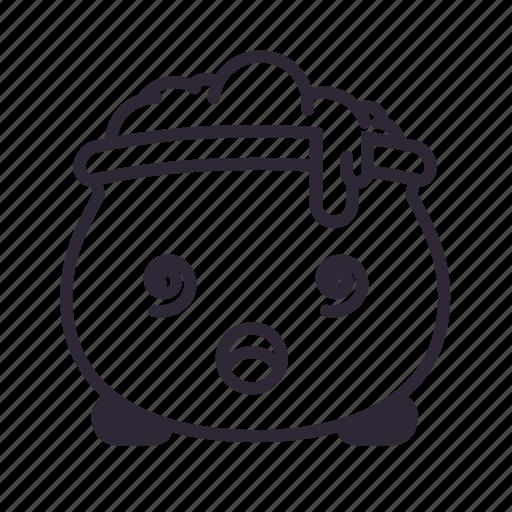cauldron, dizzy, halloween, kawaii icon