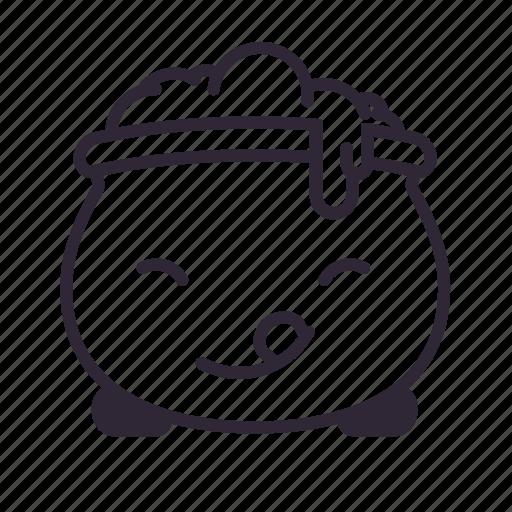 cauldron, delicious, glad, halloween, kawaii icon