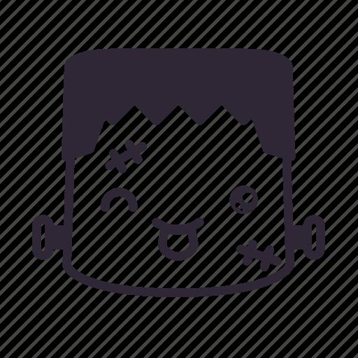 face, frankenstein, halloween, kawaii, monster, mouth icon