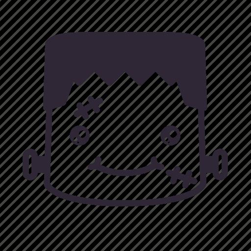 frankenstein, halloween, smile, terror icon