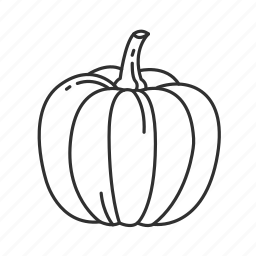 fall, halloween, harvest, orange pumpkin, pumpkin, thanksgiving icon