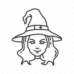 halloween, witch, witch hat icon