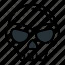 bone, halloween, head, holidays, horror, scary, skull icon