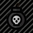 bomb, danger, dead, explosive, halloween, war