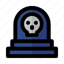 grave, gravestone, halloween, headstone, horror, tombstone icon