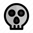 danger, dead, face, halloween, horror, skull icon