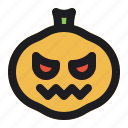 halloween, horror, pumpkin, season, vegetable icon
