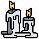 burning, candle, decoration, light, ritual icon