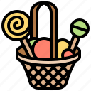 basket, candy, gift, sweet, treat