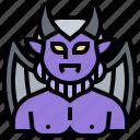 death, demon, devil, horn, scary icon
